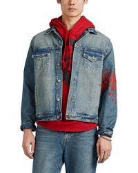 424 Cotton Denim Boxy Trucker Jacket - Blue