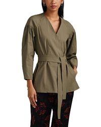 A.L.C. Kendrick Linen-blend Belted Jacket - Green