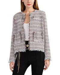 Barneys New York - Fringed Virgin-wool-blend Tweed Jacket - Lyst