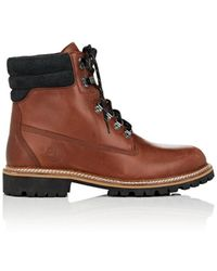 Timberland Bny Sole Series: Burnished Leather Lace-up Boots - Brown