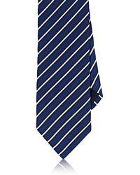 Barneys New York - Striped Silk-cotton Satin Necktie - Lyst