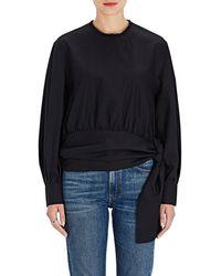 Jourden - Tie-waist Cotton Blouse - Lyst