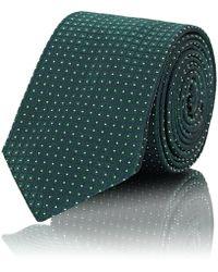 Barneys New York - Dotted-grid Silk Jacquard Necktie - Lyst