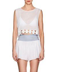 Kisuii Gata Cotton Sleeveless Top - White
