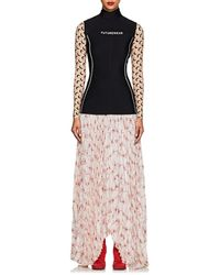 Marine Serre - future Wear Neoprene & Silk Dress Size M - Lyst