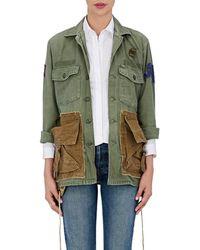 813 Ottotredici Drawstring Cotton Field Jacket - Green