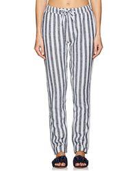Onia Ella Linen-cotton Drawstring Pants - Blue