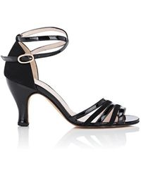 Repetto - Elena Patent Leather & Suede Sandals - Lyst
