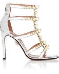 Samuele Failli Kandy Specchio Leather Sandals - Metallic