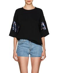 Cynthia Rowley - Sequin-striped Jersey T - Lyst