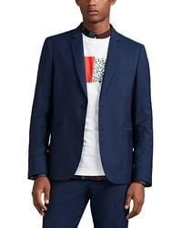 PS by Paul Smith Wool-mohair Two-button Sportcoat - Blue