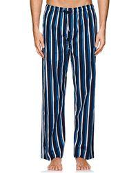 Derek Rose - Striped Cotton Pajama Pants - Lyst