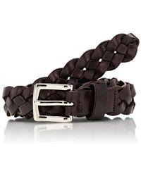 Barneys New York - Braided Leather Belt - Lyst
