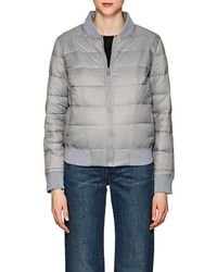 William Rast Down Puffer Bomber Jacket - Gray