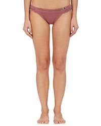 She Made Me - Amira Crochet Cheeky Bikini Bottom - Lyst