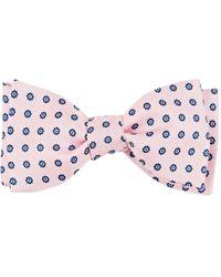 Barneys New York - Flower-dot Silk Twill Bow Tie - Lyst