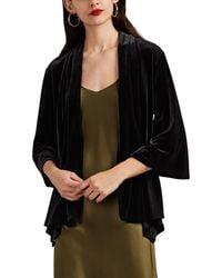 Barneys New York - Velvet Shawl-collar Cardigan Jacket - Lyst