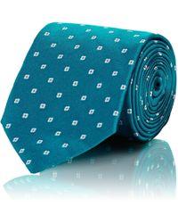Bigi - Floral-dot Silk Necktie - Lyst