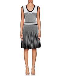 Prabal Gurung - Mixed-knit Fit & Flare Dress - Lyst
