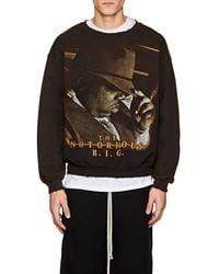 MadeWorn - the Notorious B.i.g. Distressed Cotton-blend Sweatshirt - Lyst