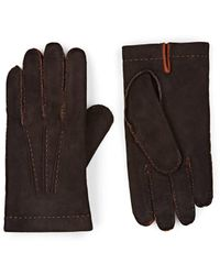 Barneys New York - Cashmere-lined Suede Gloves - Lyst