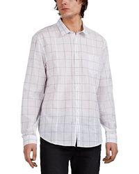 John Varvatos Checked Cotton Voile Shirt - White
