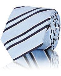 Barneys New York - Striped Silk Repp Necktie - Lyst