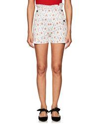 Teija - Floral Stretch-cotton Poplin Shorts - Lyst