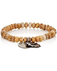 Miracle Icons - Pietersite Rondelle & Charm Bracelet - Lyst