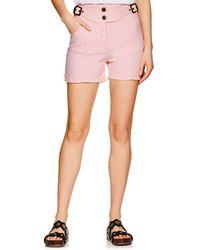 Chloé - Denim Belted High-waist Shorts - Lyst