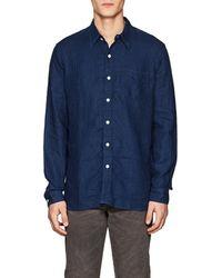 RRL - Railmain Dotted Linen Chambray Shirt - Lyst