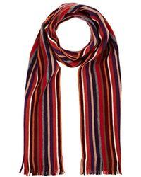 Barneys New York - Striped Wool Scarf - Lyst