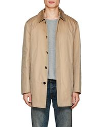 Barneys New York Cotton Trench Coat - Natural