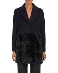 Co. Mink-trimmed Wool Straight At - Black