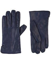 Barneys New York Cashmere-lined Gloves - Blue