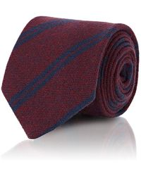 Petronius - Diagonal Stripe Cashmere Necktie - Lyst