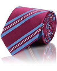 Bigi - Diagonal-stripe Silk Necktie - Lyst