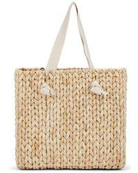 Barneys New York Vacation Straw Beach Tote Bag - Natural