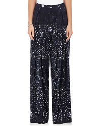 Warm - Sun Tie-dyed Silk Crossover Trousers - Lyst