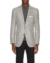 Pal Zileri - Basket-weave Wool-blend Two-button Sportcoat - Lyst