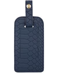 Barneys New York - Python-embossed Leather Luggage Tag - Lyst