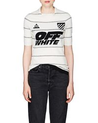 Off-White c/o Virgil Abloh Striped Compact Knit Polo Shirt - Multicolor