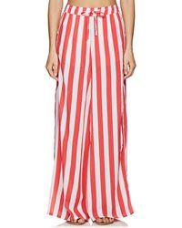 Onia - Chloe Striped Wide-leg Pants - Lyst