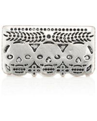 Pamela Love Day Of The Dead Double-finger Ring