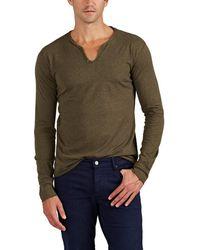 Zadig & Voltaire - Monastir Cotton Jersey Long-sleeve Henley - Lyst