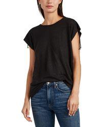 IRO - Amery Lace-up T-shirt - Lyst