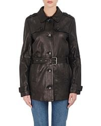J Brand - Arrow Leather Trench Coat - Lyst