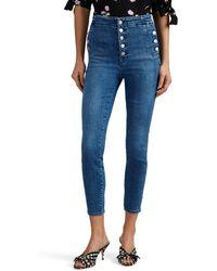 J Brand Natasha High-rise Skinny Crop Jeans - Blue