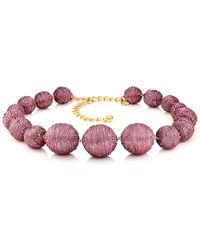 Kenneth Jay Lane - Metallic Sphere Necklace - Lyst