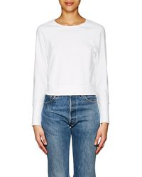 James Perse - Cotton Jersey Scoopneck Top - Lyst